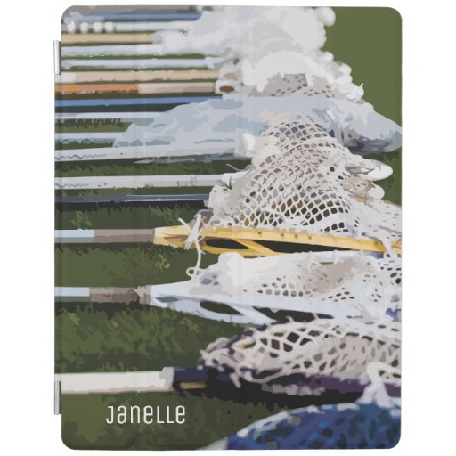 Watercolor Lacrosse Sticks iPad Smart Cover