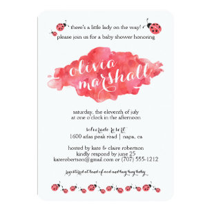 Lady Bug Baby Shower Invitations Announcements Zazzle