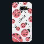 "Watercolor Ladybug Personalized Samsung Case<br><div class=""desc"">Sweet ladybugs in soft watercolors dance across this pretty Samsung Galaxy case! Coordinates with our Watercolor Ladybug gifts,  accessories,  party supplies and clothing. Non-personalized version in an alternate pattern available as well -- check out our store!</div>"