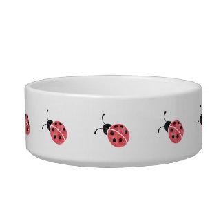 Watercolor Ladybug Pet Bowl