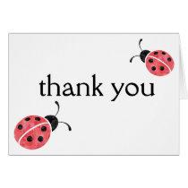 Watercolor Ladybug Thank You Cards