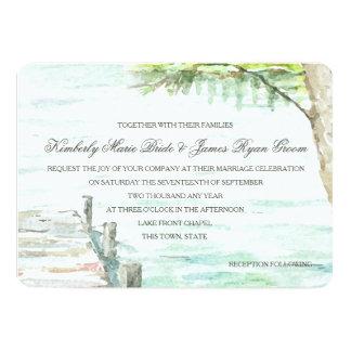 Watercolor Lake and Boat Dock Card