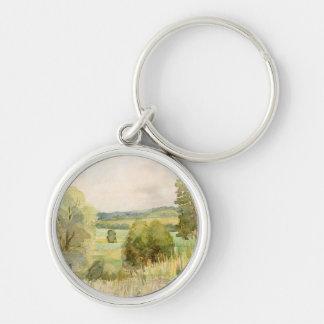 Watercolor Landscape Keychain