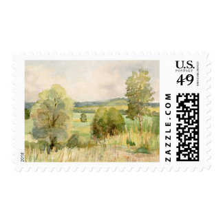 Watercolor Landscape Postage