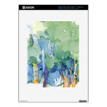 watercolor landscapes decal for iPad 3