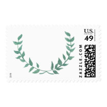 Watercolor Laurel Postage Stamps