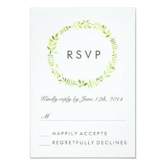 Watercolor Laurel RSVP Personalized Invites