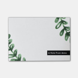 Watercolor Laurel Wreath Personalized Post-it® Notes