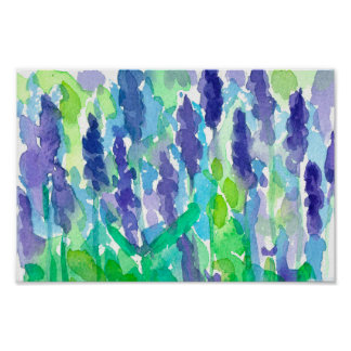Pretty flower paintings posters zazzle watercolor lavender flowers painting poster mightylinksfo