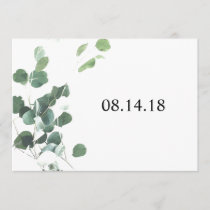 Watercolor leaves save the date card 5x7