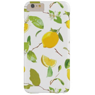 Watercolor Lemon & Leaves 2 Barely There iPhone 6 Plus Case