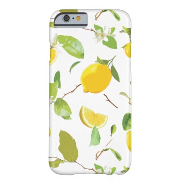 Watercolor Lemon & Leaves 2 Barely There iPhone 6 Case