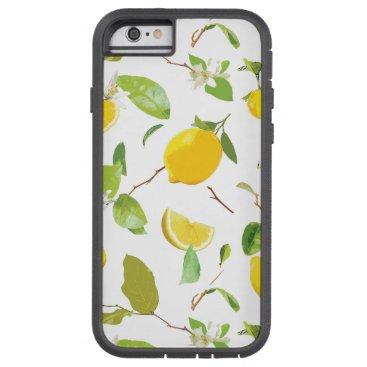 Watercolor Lemon & Leaves 2 Tough Xtreme iPhone 6 Case