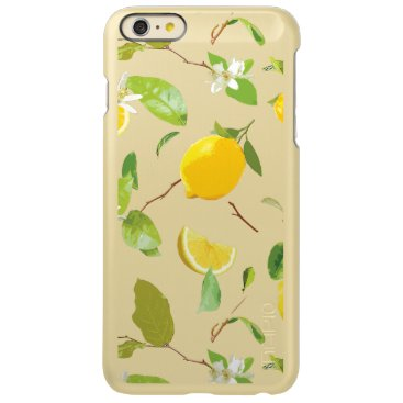 Watercolor Lemon & Leaves 2 Incipio Feather Shine iPhone 6 Plus Case