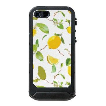 Watercolor Lemon & Leaves 2 Waterproof Case For iPhone SE/5/5s