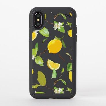 Watercolor Lemon & Leaves 2 Speck iPhone X Case
