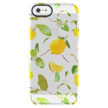 Watercolor Lemon & Leaves 2 Clear iPhone SE/5/5s Case