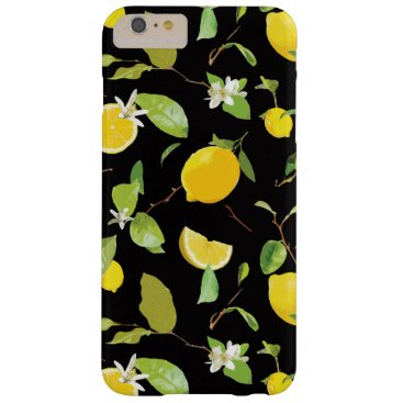 Watercolor Lemon & Leaves Barely There iPhone 6 Plus Case
