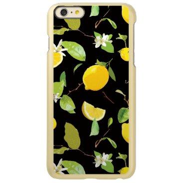Watercolor Lemon & Leaves Incipio Feather Shine iPhone 6 Plus Case