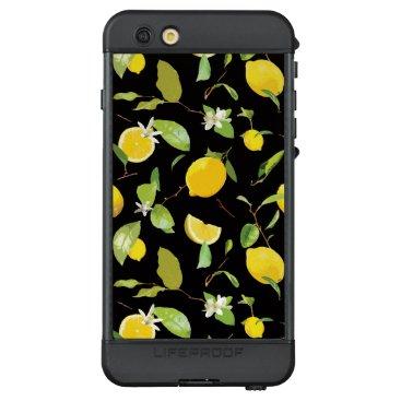 Watercolor Lemon & Leaves LifeProof NÜÜD iPhone 6s Plus Case