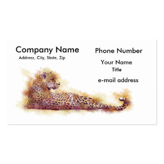 Watercolor Leopard Double-Sided Standard Business Cards (Pack Of 100)
