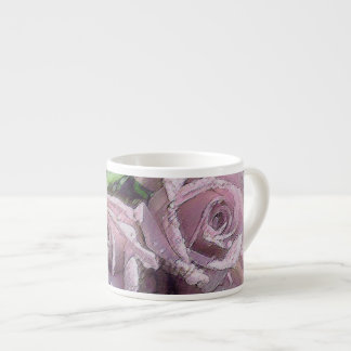 Watercolor Light Pink Roses - Espresso Cup
