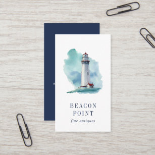 Lighthouse business cards zazzle watercolor lighthouse business card colourmoves