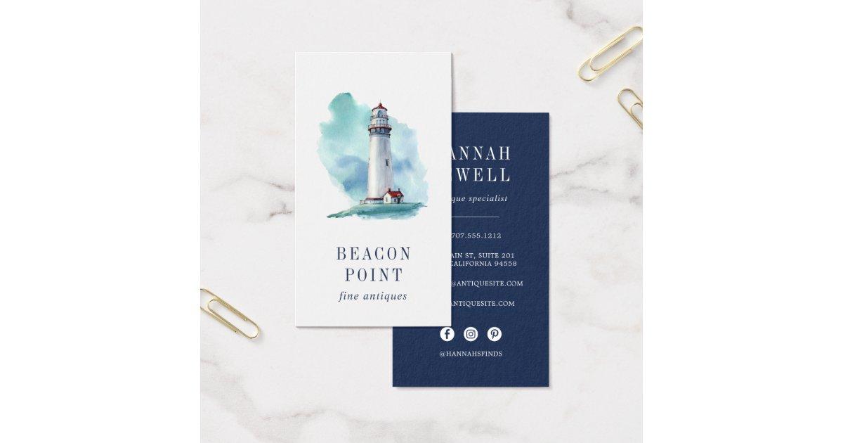 Watercolor Lighthouse Business Card | Zazzle.com