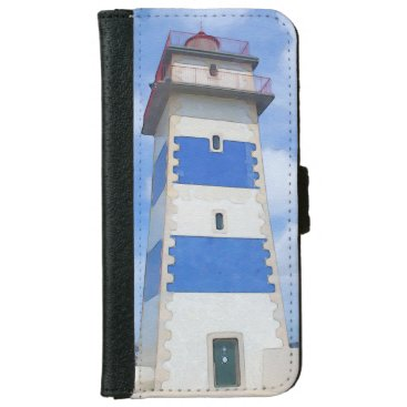 Watercolor lighthouse iPhone 6/6s wallet case