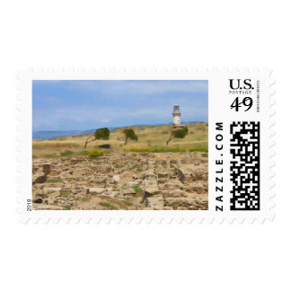 Watercolor lighthouse postage