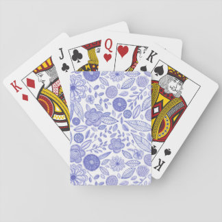 Watercolor Lilac flowers Playing Cards