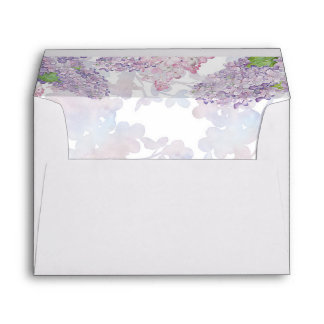 Watercolor Lilacs | Floral Elegant Wedding Envelope
