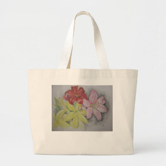 Watercolor Lilies Canvas Bags