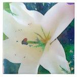"Watercolor Lily 6""x6"" Tile or Trivet"