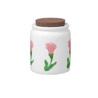 Watercolor Lily Candy / Sugar Jar Candy Dish
