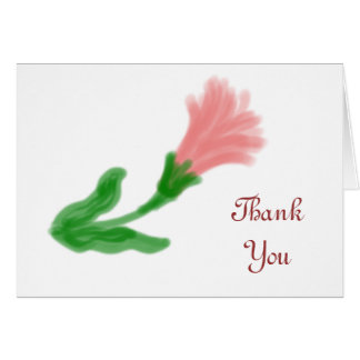 Watercolor Lily Thank You Note Card