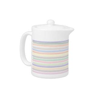 Watercolor lines teapot