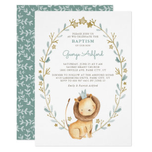 Boy Baptism Christening Invitations Zazzle