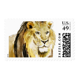 Watercolor Lion Stamp
