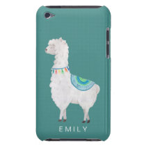 watercolor llamas cute modern hipster iPod touch cover