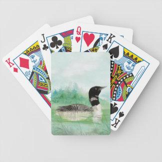 Watercolor Loon Wilderness Lake Bird Nature Art Poker Deck