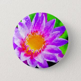 Watercolor Lotus Button