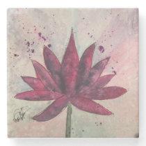 Watercolor Lotus Flower Coasters