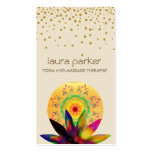 Watercolor Lotus Flower Logo Yoga Healing Health Double-Sided Standard Business Cards (Pack Of 100)