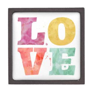 Watercolor LOVE Jewelry Box