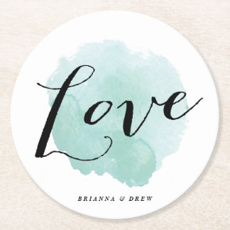 Watercolor love | Wedding coaster