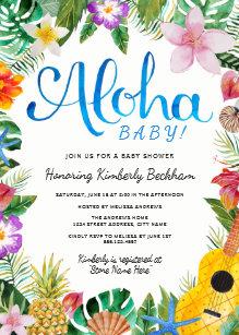 Save 60 on luau baby shower invitations limited time only zazzle watercolor luau baby shower invite blue filmwisefo