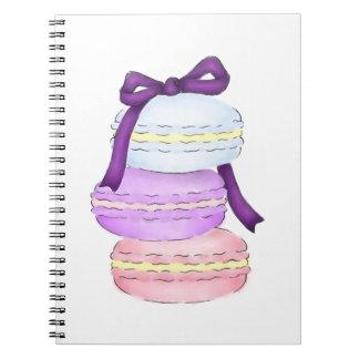 Watercolor Macaron Stack Notebook