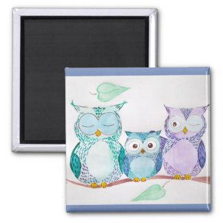 Watercolor magnet owls, cute home decor