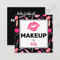 Watercolor Makeup Artist Glam Square Business Card